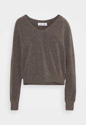 FRANCES V NECK  - Strikpullover /Striktrøjer - warm grey