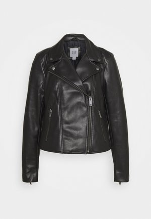 MOTO JACKET - Keinonahkatakki - true black