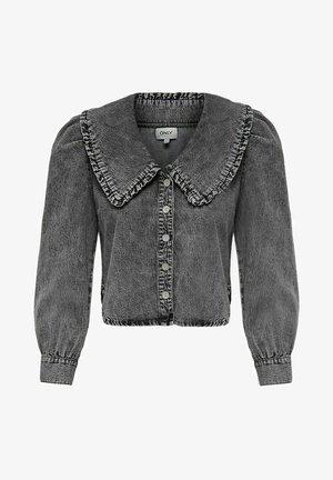 Button-down blouse - grey denim