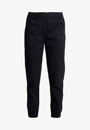 MID RISE CUFFED - Pantalon classique - washed black