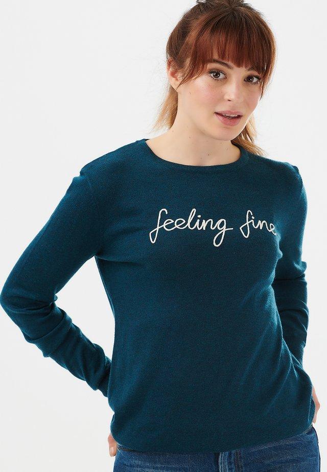 SUGARHILL BRIGHTON VELMA FEELING FINE - Sweater - blue