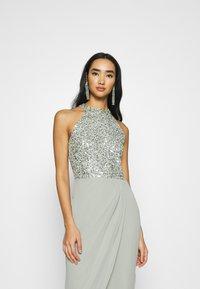 Lace & Beads - AVALON WRAP MAXI - Společenské šaty - sage - 4