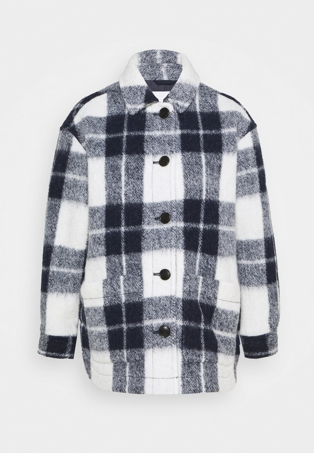 AUSTIN COAT IN FUZZY PLAID - Classic coat - maryl/ink