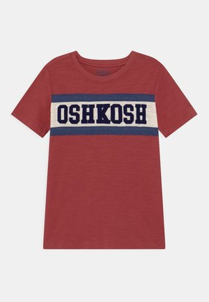 PIECED - Print T-shirt - red