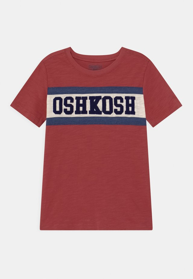 PIECED - T-shirts med print - red