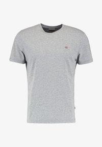 Napapijri - SENOS CREW - Jednoduché triko - med grey melange - 4