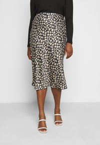 CAPSULE by Simply Be - FLORAL PRINT SKIRT - Pencil skirt - black/white - 0