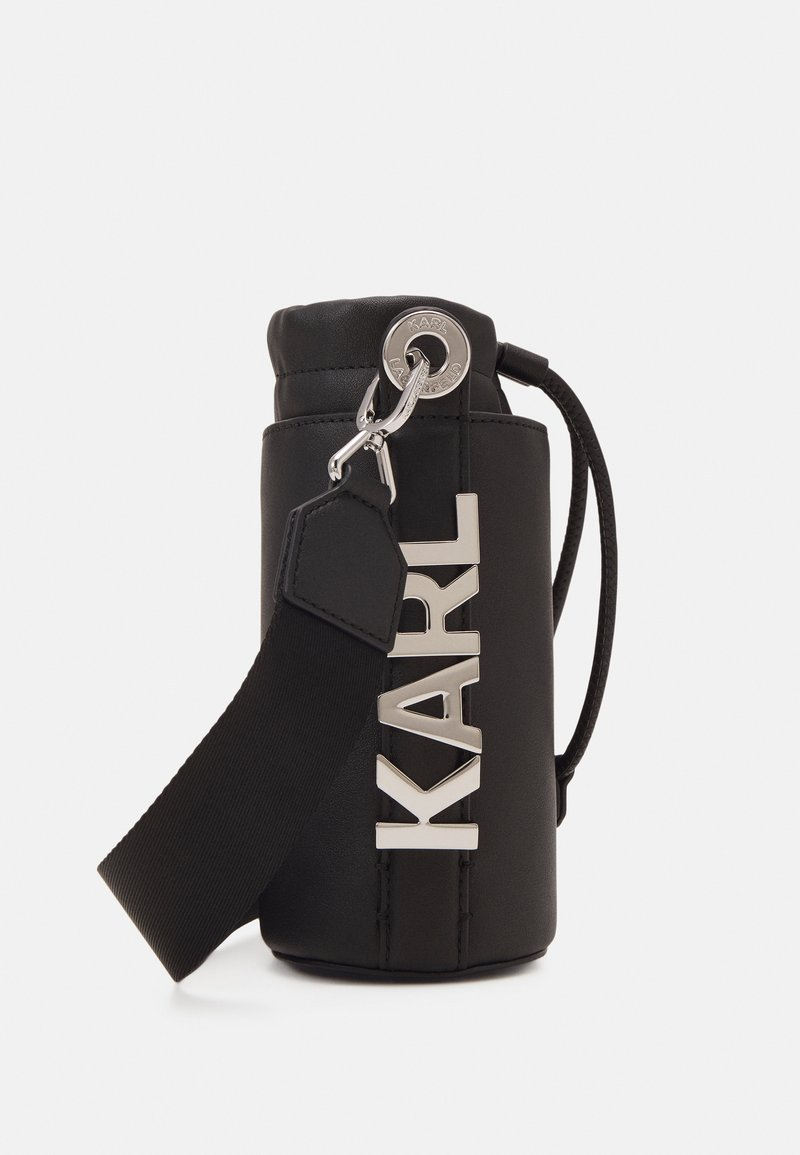 KARL LAGERFELD - LETTERS BOTTLE HOLDER - Across body bag - black