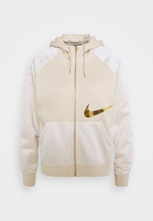 Sweatjacke - oatmeal/metallic gold