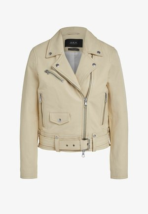 Leather jacket - banana crepe