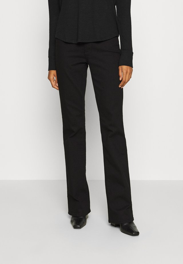 Bootcut jeans - true black