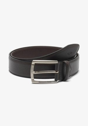 CINTURA IN BOTTALATA CON LOGO - Belt business - marrone
