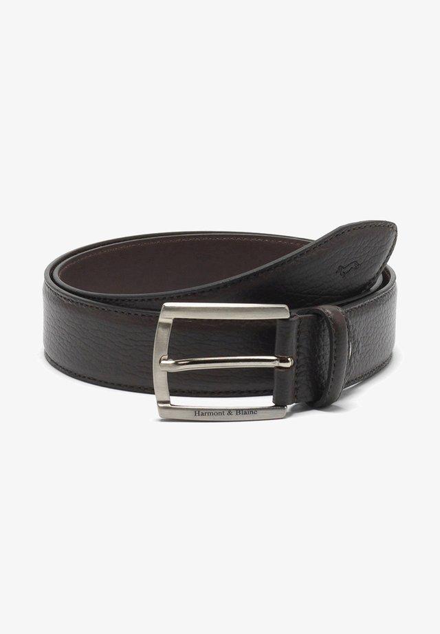 CINTURA IN BOTTALATA CON LOGO - Belt business - marrone