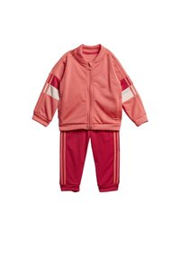 adidas Performance - FAVOURITES TRAINING SPORTS TRACKSUIT BABY SET - Tracksuit - red - 9