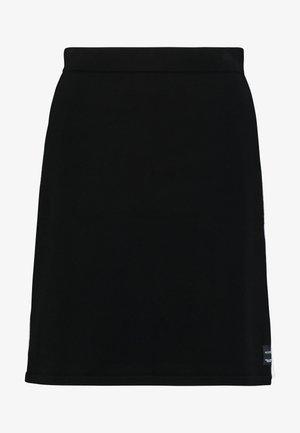 HEAVY SKIRT STRIPE DETAIL - Áčková sukně - black