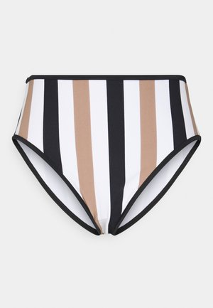 SAIL HIGH WAIST BRIEF - Bikini bottoms - white/black