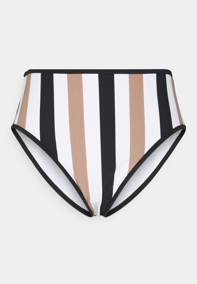 SAIL HIGH WAIST BRIEF - Bikinibroekje - white/black