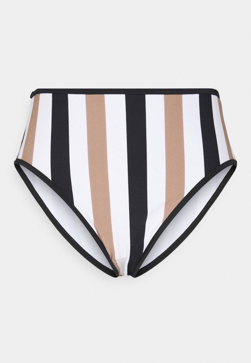 Freya - SAIL HIGH WAIST BRIEF - Bikini bottoms - white/black