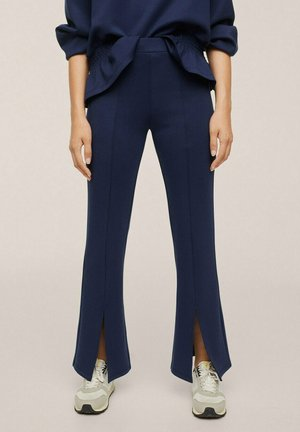 FLARE ABERTURAS - Trousers - azul marino oscuro