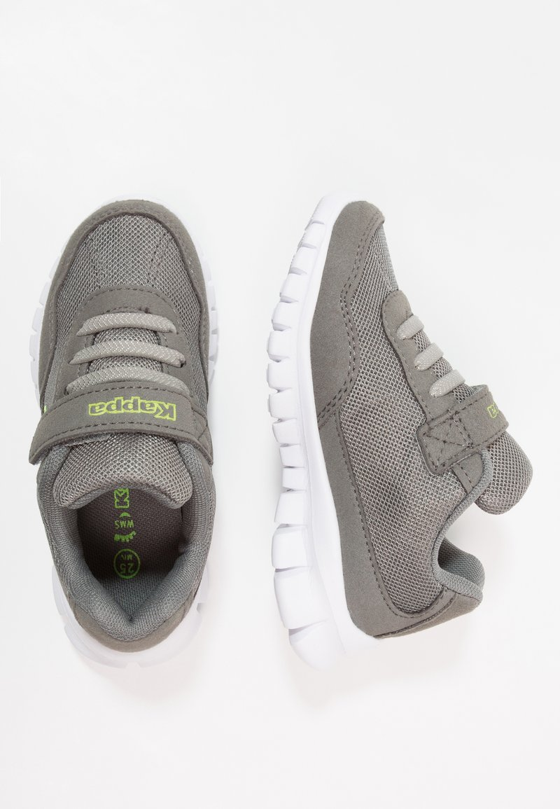 Kappa - UNISEX - Sports shoes - grey/lime