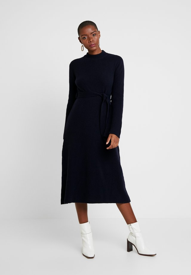 MIDI DRESS - Jumper dress - navy blue