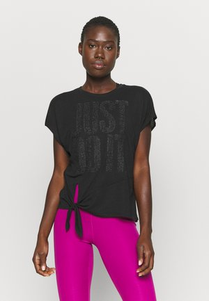 DRY TIE SPRKLE - Camiseta estampada - black