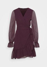 Gina Tricot - JULIANNA WRAP DRESS - Cocktail dress / Party dress - winetasting - 4