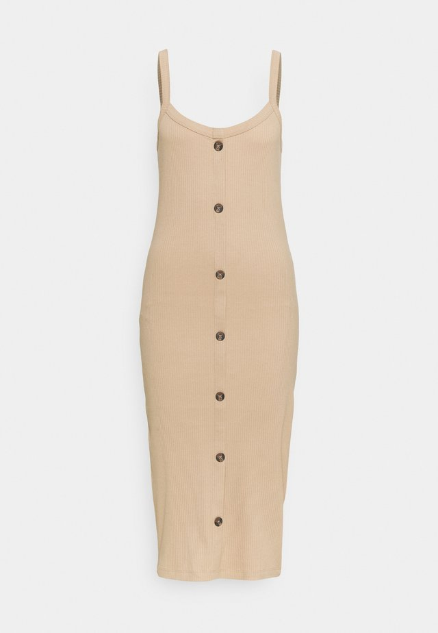 VMHELSINKI DRESS - Shift dress - beige