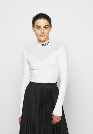 POINTELLE LOGO  - Jersey de punto - off-white