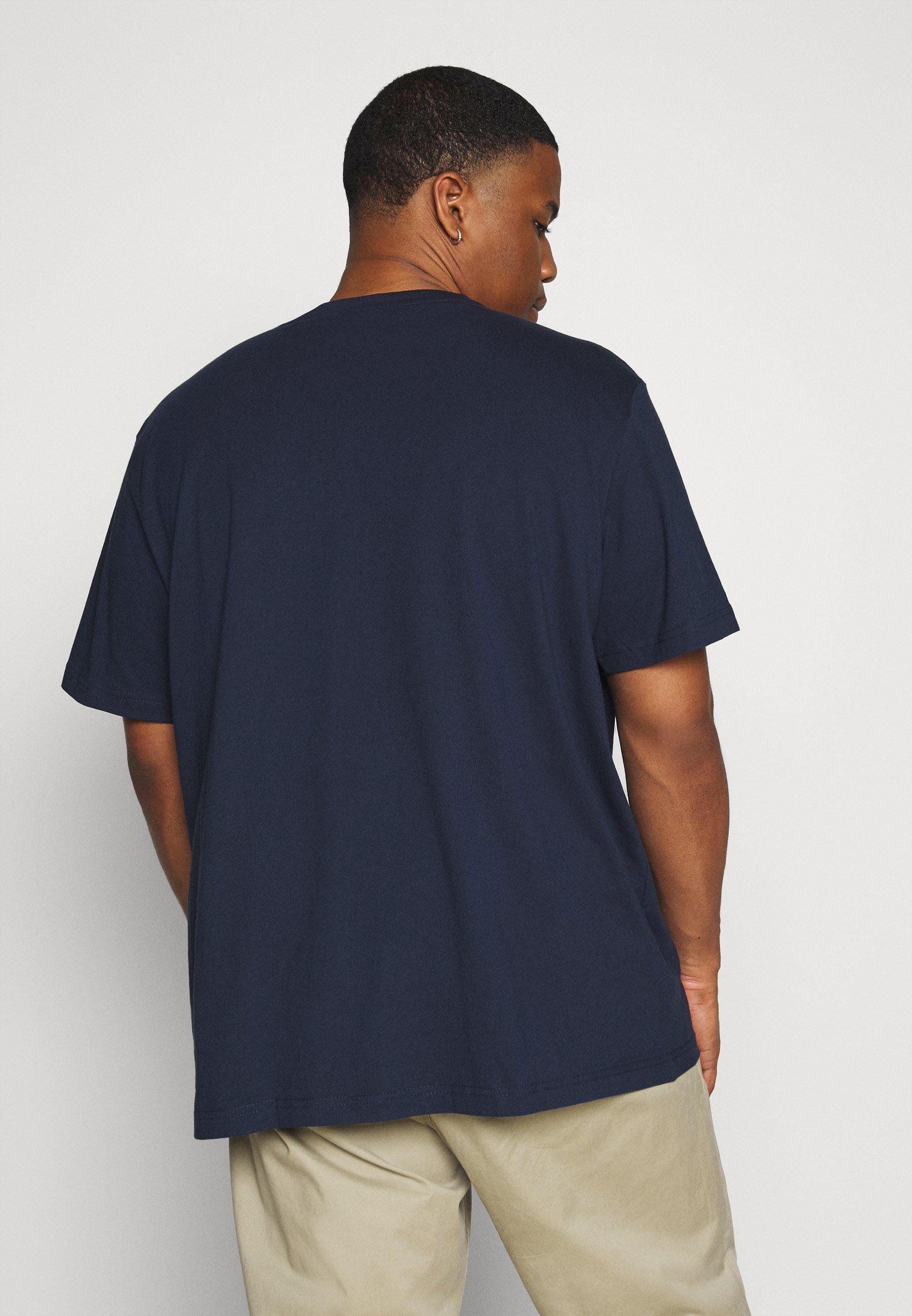 s.Oliver KURZARM - Print T-shirt - dark blue sP8Bv