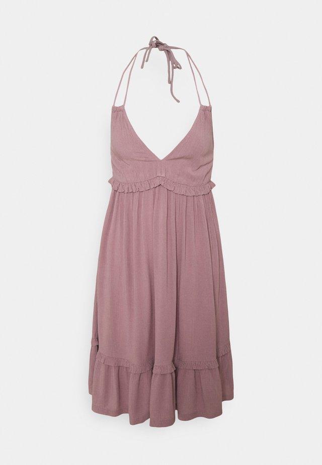 VIMESA HALTERNECK  DRESS - Denní šaty - elderberry