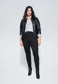 Violeta by Mango - ELASTIC - Trousers - black - 1