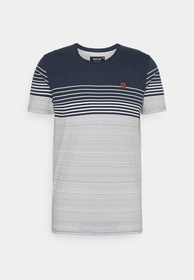 MANNING - Print T-shirt - navy
