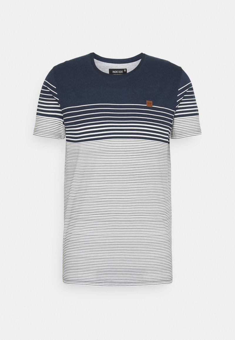 INDICODE JEANS - MANNING - T-shirt imprimé - navy