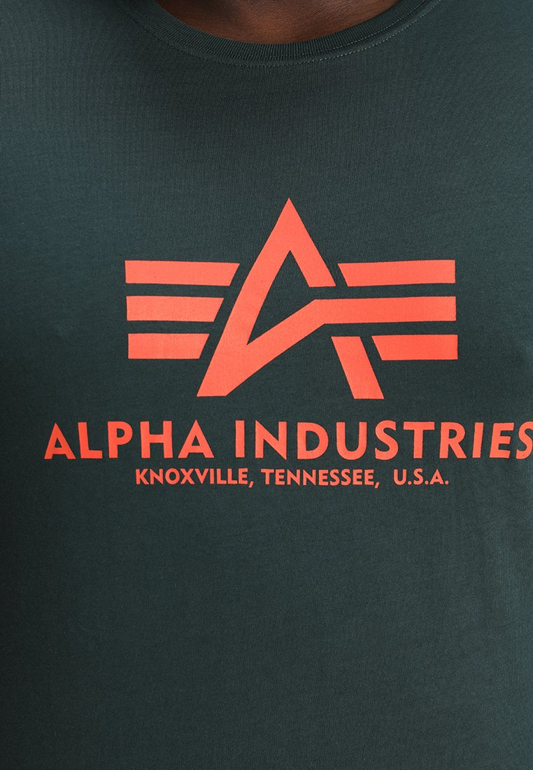 Alpha Industries BASIC - Print T-shirt - dark petrol SpsgC