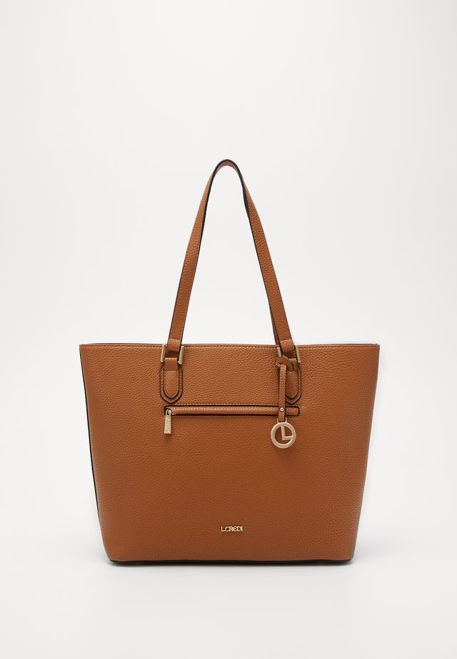 ELLA - Shopping bag - cognac