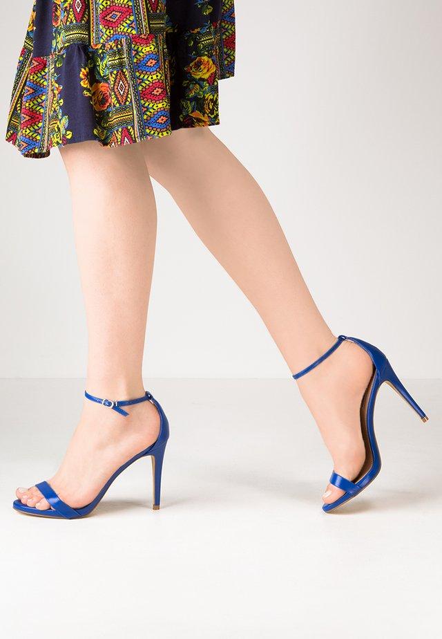STECY - Sandały na obcasie - blue