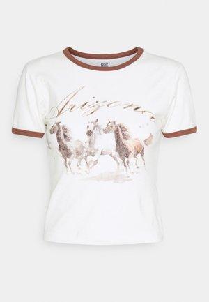 ARIZONA HORSE BABY - Triko spotiskem - cream