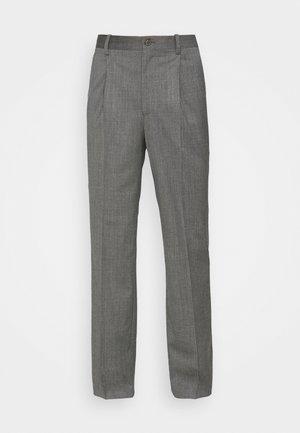 SUIT PANTS - Trousers - grey wool