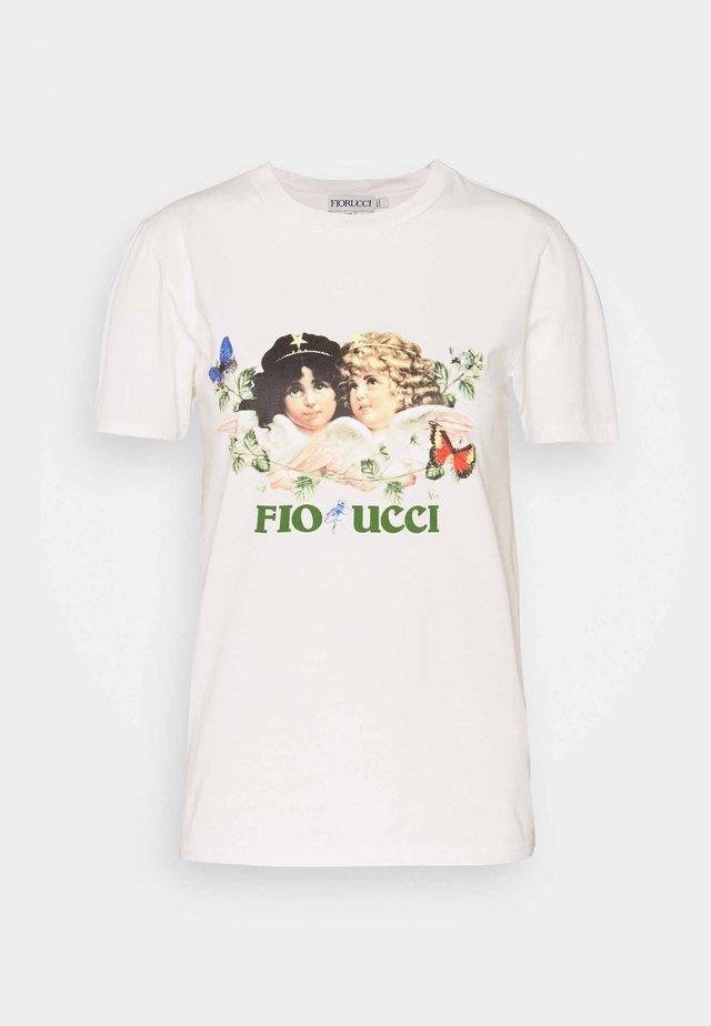 WOODLAND VINTAGE ANGELS TEE  - T-shirt imprimé - white