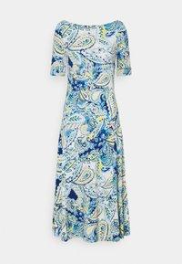 Lauren Ralph Lauren - MUNZIE ELBOW SLEEVE CASUAL DRESS - Žerzejové šaty - blue multi - 0