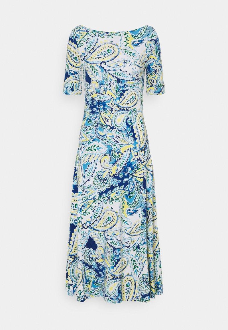 Lauren Ralph Lauren - MUNZIE ELBOW SLEEVE CASUAL DRESS - Žerzejové šaty - blue multi