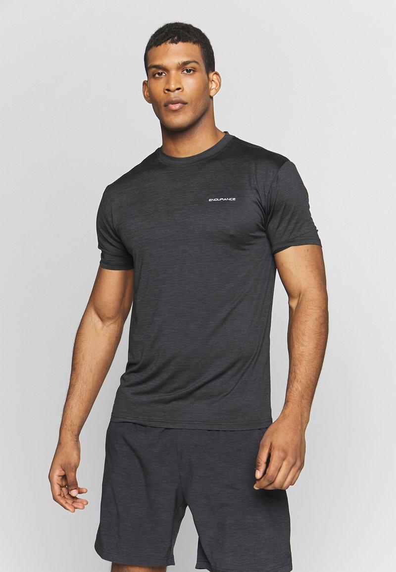 Endurance - MELANGE TEE - Camiseta básica - black