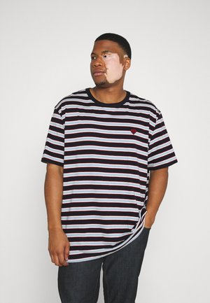 STRIPED TEE - Print T-shirt - dark navy