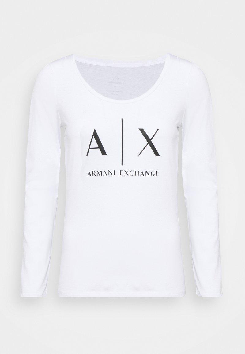 Armani Exchange - Long sleeved top - optic white