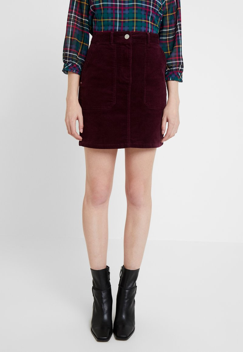 Dorothy Perkins - PATCH POCKET SKIRT - Mini skirt - mauve