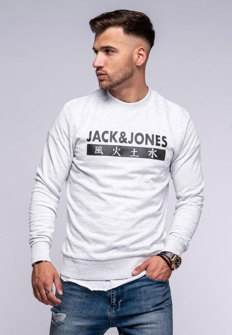 Jack & Jones - ELEMENTS  - Sweatshirt - white melange