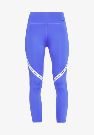ONE CROP - Legginsy - sapphire/white/black