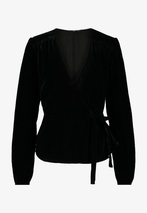Blouse - shiny black