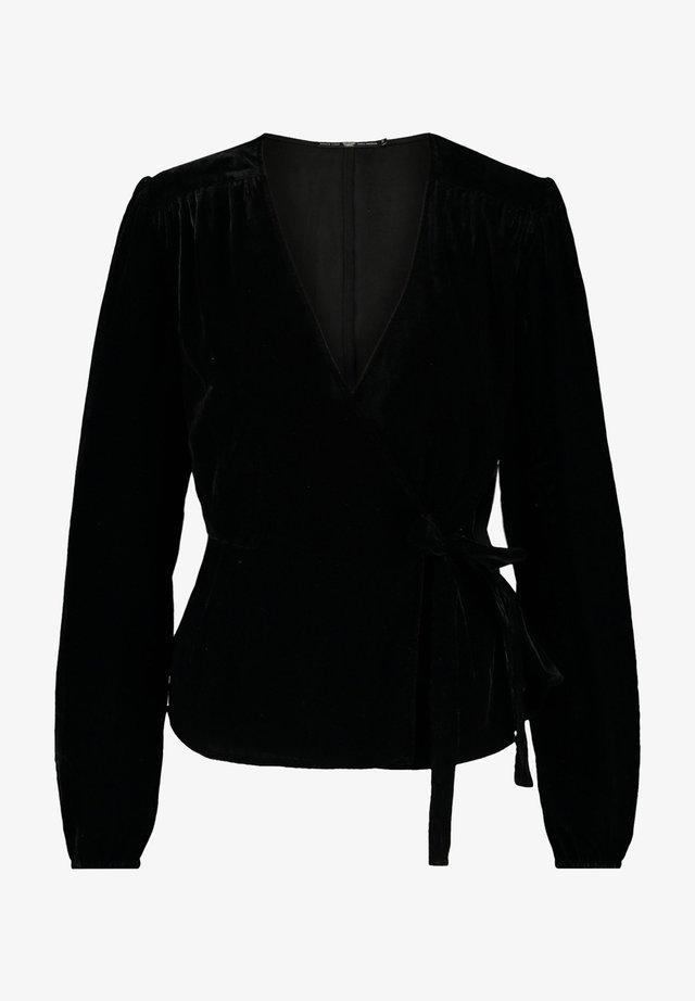 Blouse - shiny black